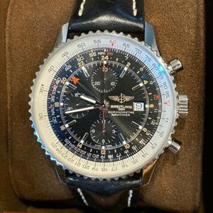 Breitling Navitimer 46mm World Gmt With Warranty
